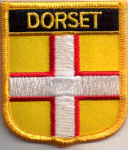 Dorset Embroidered Flag Patch, style 07.